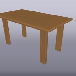 Mesa de madera 1-20 3.jpg Download OBJ file Table scale 1:20 • 3D printing object, isak009