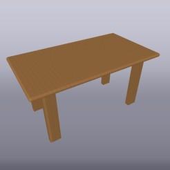 Mesa de madera 1-20 1.jpg Download OBJ file Table scale 1:25 • 3D printing model, isak009