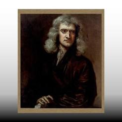 Cuadro Isaac_Newton 175x210 mm jpg1.jpg Download STL file relief painting of Isaac Newton pensive • 3D print model, isak009