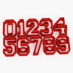 numeros oficial 0 al 9.png Download STL file Cookies cutter number stl 0 1 2 3 4 5 6 7 8 9 - cookie cutter number 0 to 9 • 3D printer object, Argen3D