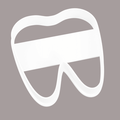 Download 3D printing files cookie cutter molar tooth, Argen3D