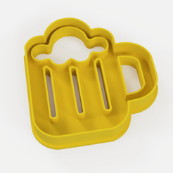 chop cerveza.png Download STL file Chop beer cookie cutter - chop beer cookie cutter • 3D printable model, Argen3D