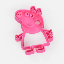 Download 3D printer files peppa pig cookie cutter stl - peppa pig cookie cutter, Argen3D