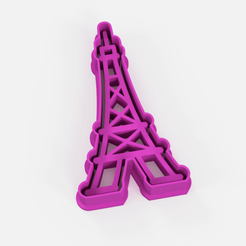 cortante torre eiffel.png Download STL file Eiffel Tower Cookie Cutter - Eiffel Tower Cookie Cutter • Object to 3D print, Argen3D