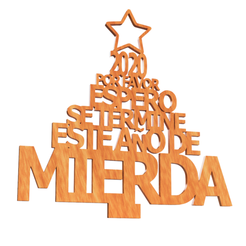 frase 2020 img.png Download STL file 2020 farewell phrase - 2020 please I hope this shitty year is over - phrase based on christmas decoration end of year • 3D printer design, Argen3D