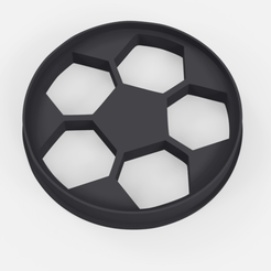 Download 3D printing designs Soccer ball cutter - soccer ball cookie cutter, Argen3D