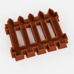 cortante cerca.png Download STL file cutter fence fencing palisade - cookie cutter fence fencing palisade • Design to 3D print, Argen3D
