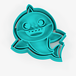 Download 3D printing files Baby shark cookie cutter - baby shark cookie cutter + marker, Argen3D