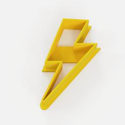 Download STL files Cookie lightning bolt - cookie cutter lightning, Argen3D