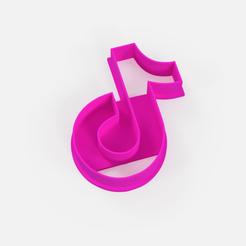 Download 3D printer designs Cookie cutter tik tok logo - cookie cutter tik tok logo, Argen3D