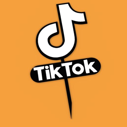 Download Stl File Topper Tik Tok Logo Cake Cakes Decoration Template To 3d Print Cults