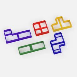 tetris cortantes.png Télécharger fichier STL emporte-pièce tetris - emporte-pièce tetris - PACK X5 • Design imprimable en 3D, Argen3D