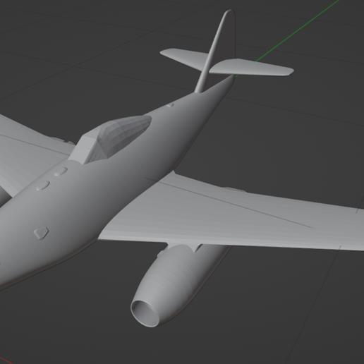 me_262_thumbnail.PNG Télécharger fichier STL gratuit Messerschmitt Me 262 • Design à imprimer en 3D, marcellom