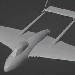 Download free 3D printing templates De Havilland Vampire, marcellom