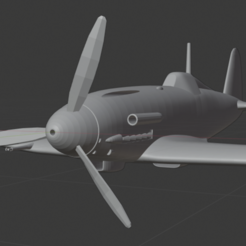Download free STL file Fiat G.55 Centauro • 3D printable design, marcellom