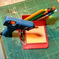 Download free STL file Glue Gun Rest • 3D printable template, Mikolynn