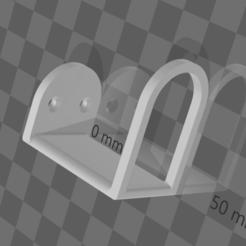 crbrkt.png Télécharger fichier STL gratuit Support pour porte-cordon de guitare • Plan pour imprimante 3D, madebymacht