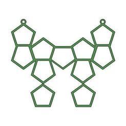 Pentagan doller green front.jpg Download free OBJ file Penton Necklace • 3D print template, gopinathv