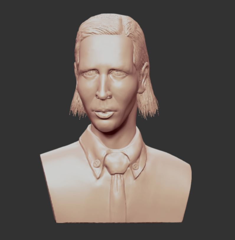 2.JPG Download OBJ file MARILYN MANSON • 3D printing template, penta_studio