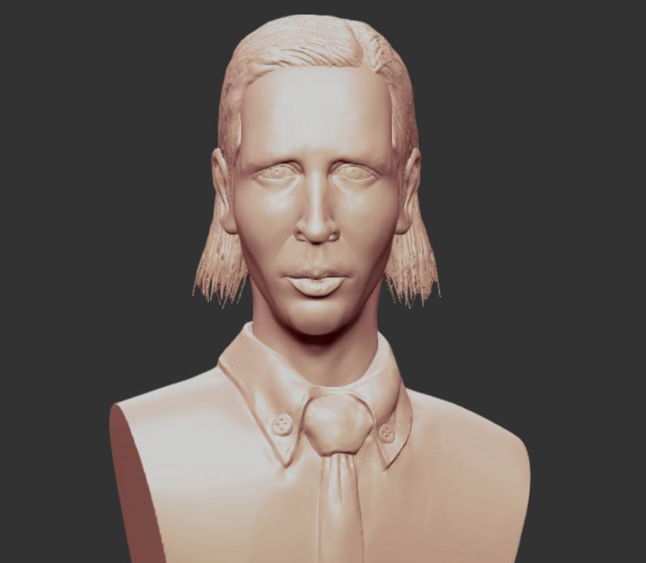 0.JPG Download OBJ file MARILYN MANSON • 3D printing template, penta_studio