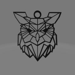 BUO.png Télécharger fichier OBJ gratuit Collier de chouette en poly • Plan à imprimer en 3D, Ermack