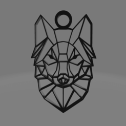 LOBO.png Download free OBJ file low poly wolf collar • 3D printable model, Ermack
