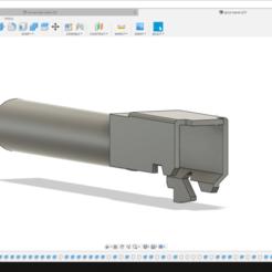 Captura de Tela (5).png Download STL file MARUI WE GBB GLOCK G SERIES OUTER BARREL • 3D printing model, thegregin