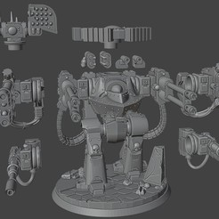 1.jpg Download free STL file Xenos Hater Dorito Class Stompy Shooter • Model to 3D print, tcclaviger