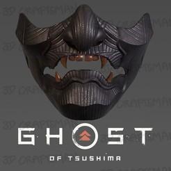 Télécharger modèle 3D GHOSTS OF TSUSHIMA - Sakai Mask - Jeu de costumes de Cosplay japonais, 3DCraftsman