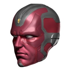 BPR_Composite3.jpg Download OBJ file Avengers Vision Mask Helmet Cosplay display piece • 3D printer model, 3DCraftsman
