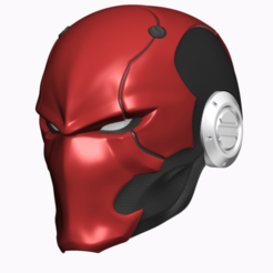 Screen Shot 2020-10-04 at 3.38.07 pm.png Download OBJ file DC - Red Ronin Red Hood Helmet Cosplay Mask  • 3D print model, 3DCraftsman