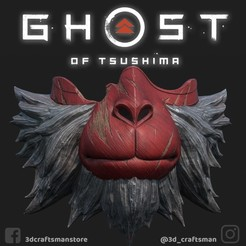 MountainMessenger2.jpg Télécharger fichier STL GHOST OF TSUSHIMA - Sacred Mountain Messenger Mask Fan Art Cosplay 3D Print et Low Poly • Modèle pour imprimante 3D, 3DCraftsman