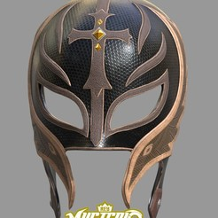 Screen Shot 2020-08-31 at 7.26.40 pm.jpg Download STL file Rey Mysterio WWE Fan Art Cosplay Mask 3D Print with textures • Template to 3D print, 3DCraftsman