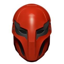 BPR_Composite.jpg Download OBJ file Red Hood Injustice 2 - Mask Helmet Cosplay • 3D printing template, 3DCraftsman