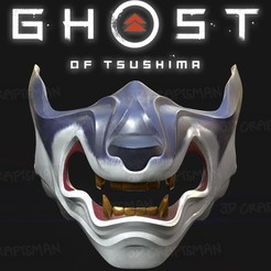 Screen Shot 2020-08-13 at 10.13.49 am.jpg Download OBJ file GHOST OF TSUSHIMA - Wolf of Tsushima Mask Fan Art Cosplay 3D Print  • 3D printer template, 3DCraftsman