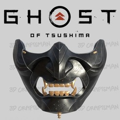 Screen Shot 2020-08-10 at 3.23.25 pm copy.jpg Download OBJ file GHOST OF TSUSHIMA - Ghost Mask - Fan art cosplay 3D print • 3D printable object, 3DCraftsman