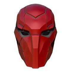 BPR_Composite.jpg Télécharger fichier OBJ Red Hood Injustice 2 - Cosplay de masque • Modèle imprimable en 3D, 3DCraftsman