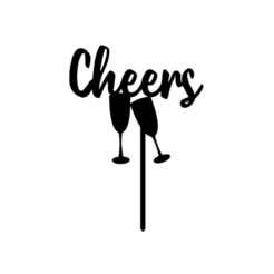 cheers2.png Download STL file topper cheers • 3D printing template, 3dcookiecutter