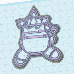 unicornio3.png Download STL file unicorn cookie cutter • 3D printing design, 3dcookiecutter