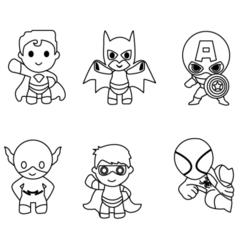 minisuperheroes.png Télécharger fichier STL mini-coupeurs de super-héros • Objet pour imprimante 3D, 3dcookiecutter
