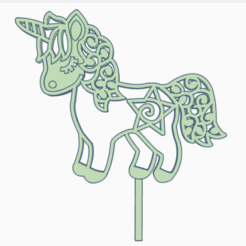 caballito.png Download STL file topper pony • 3D printing template, 3dcookiecutter