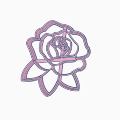 Sin título.png Download STL file bold pink flower • 3D print template, 3dcookiecutter