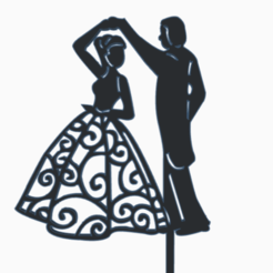 marriage2b.png Download STL file topper marriage • 3D printable object, 3dcookiecutter