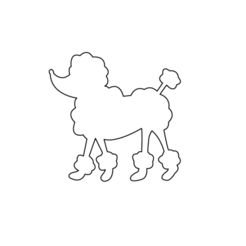 poodle3.png Download STL file topper and poodle cutter • 3D print object, 3dcookiecutter
