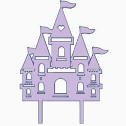 castillo.png Download STL file topper castle • Template to 3D print, 3dcookiecutter