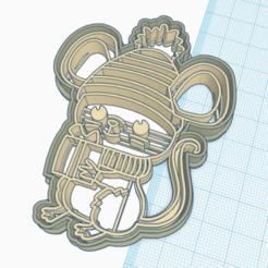 ratoncito.png Télécharger fichier STL petite souris pointue • Design pour impression 3D, 3dcookiecutter