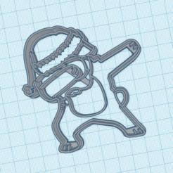 santadog.png Télécharger fichier STL le chien de santa cortante pour les biscuits • Plan pour impression 3D, 3dcookiecutter