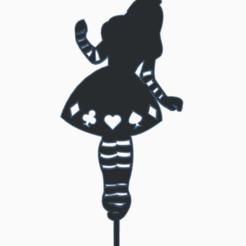 alicia2.png Download STL file topper alicia • Design to 3D print, 3dcookiecutter