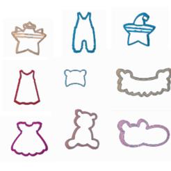 babytodos.png Télécharger fichier STL 9 différents emporte-pièces • Modèle imprimable en 3D, 3dcookiecutter