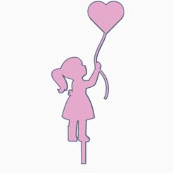 topperniña.png Download STL file topper girl • 3D printable design, 3dcookiecutter